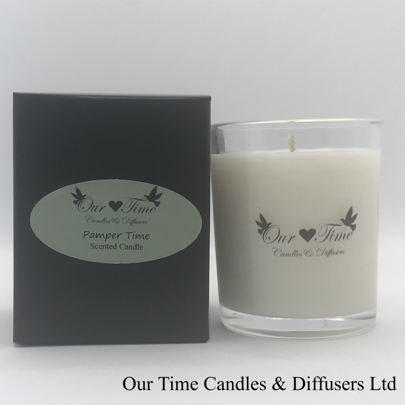 Small Wax Filled Candle Pamper Time