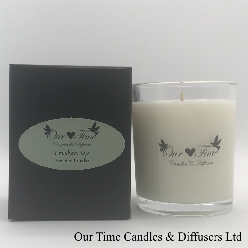 Small Wax Filled Candle Freshen Up