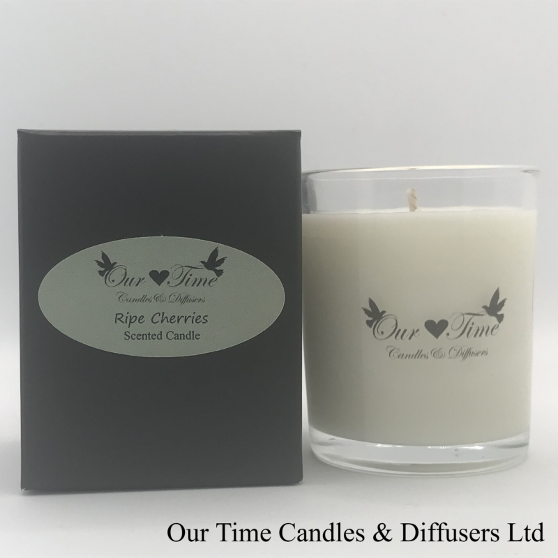 Small Wax Filled Candle Ripe Cherries