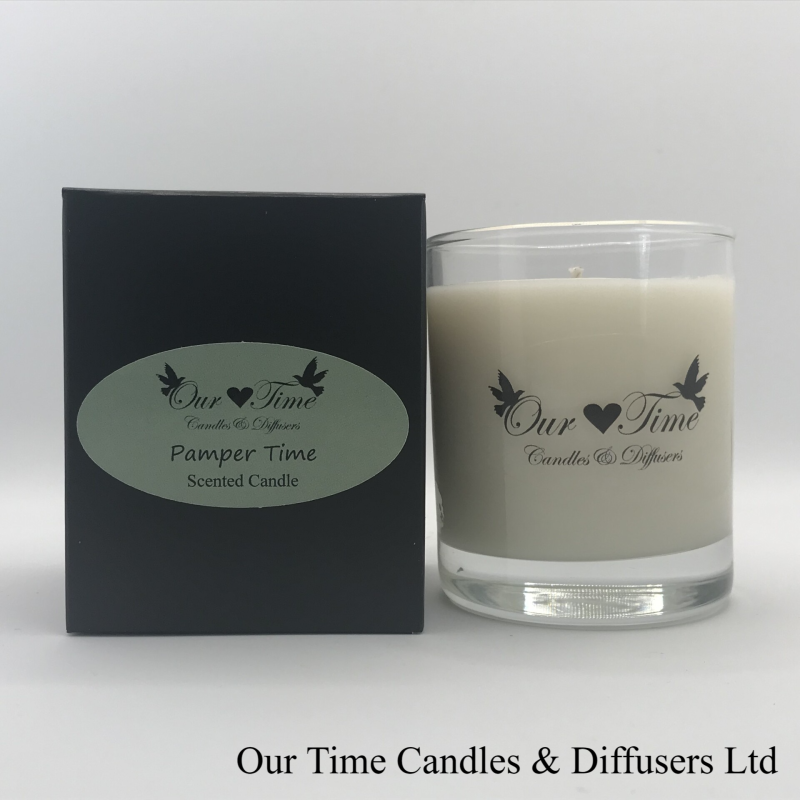 Medium Wax Filled Candle Pamper Time