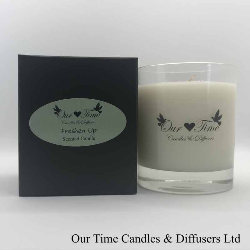 Large Wax Filled Candle Freshen Up