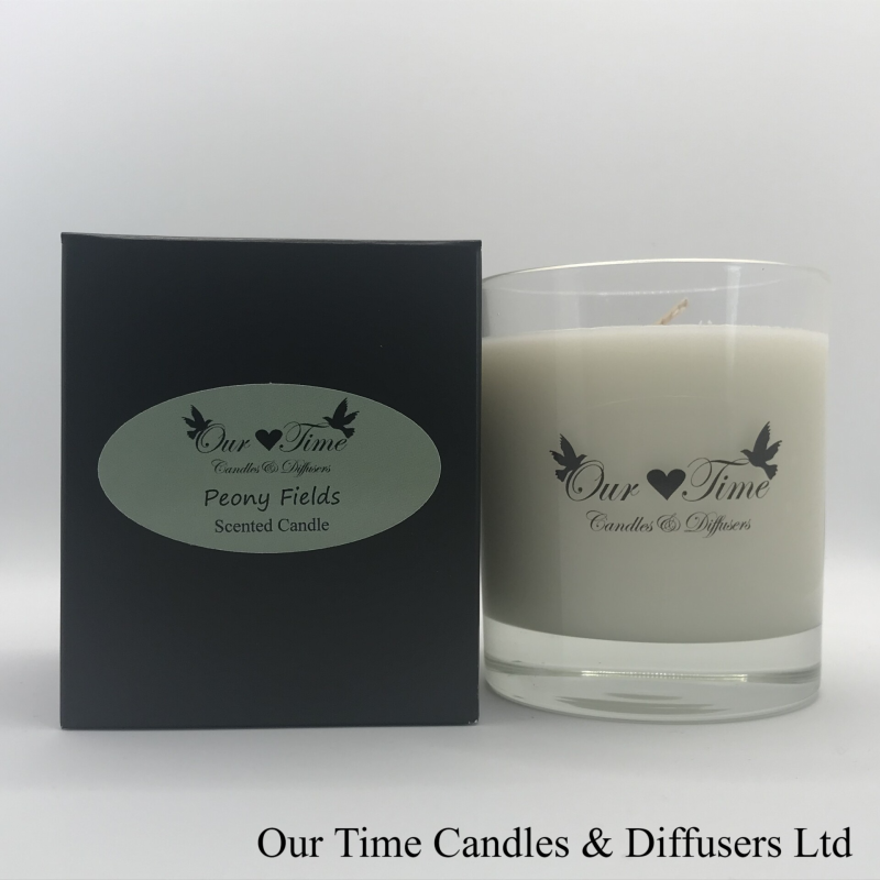 Large Wax Filled Candle Peony Fields