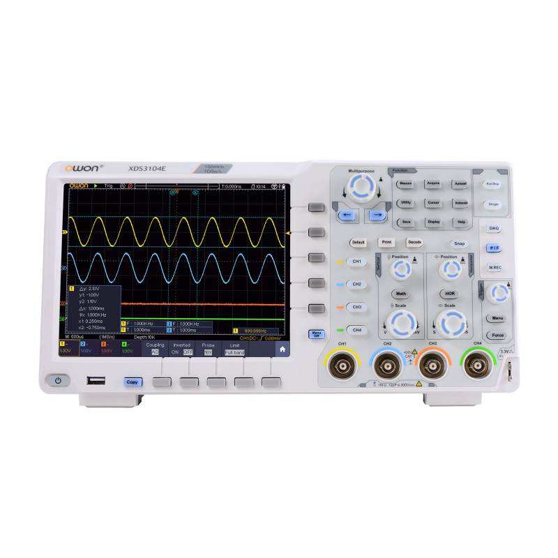OWON XDS3102A 100MHz 12bits 2 Channel 1GS/s Oscilloscope