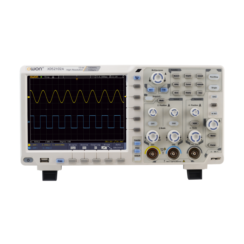 OWON XDS2102A 2CH 100MHz 12 bits Economical Digital Oscilloscope