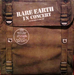 Rare Earth ‎– Rare Earth In Concert
