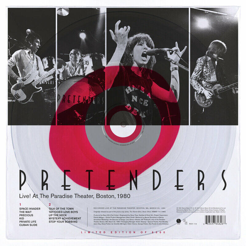 Pretenders - Live at the Paradise Theater , Boston , 1980
