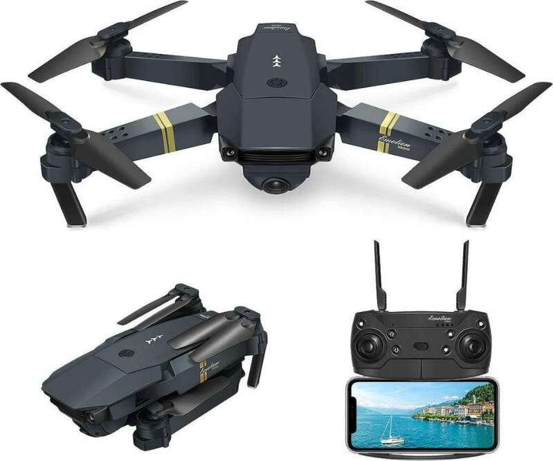 Pocket drone met Camera - Full HD Dual Camera - Wifi FPV - Foto - Video - Quadcopter