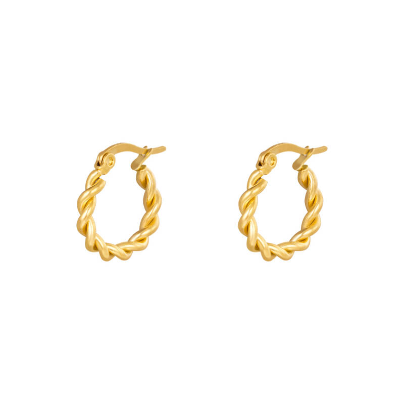 Oorbellen Hoops Twine 15 mm