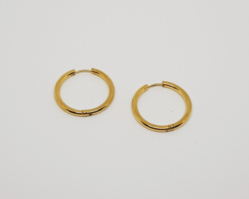 Big hoops goud