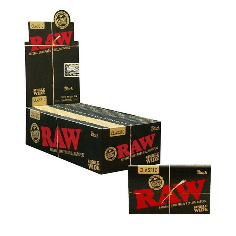 RAW® Black Single Wide Double Window Box Rolling Papers