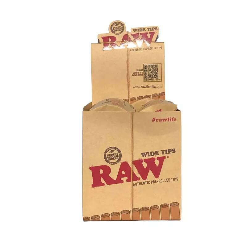 RAW® Prerolled Wide Tips Box