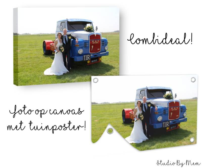 Combi-deal Canvas & Tuinposter