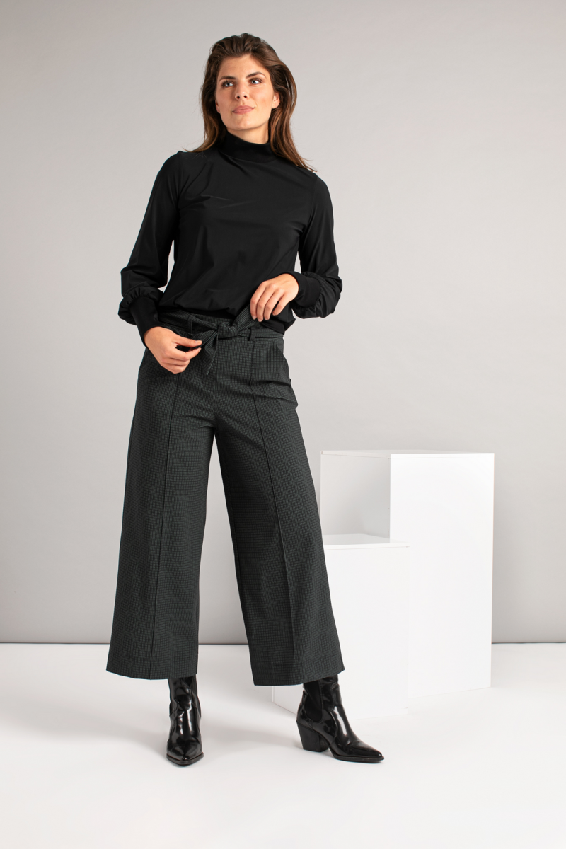 Charlotte small check trousers