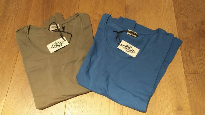 Set Basis T-shirt langen mouw maat XXL (set 5)