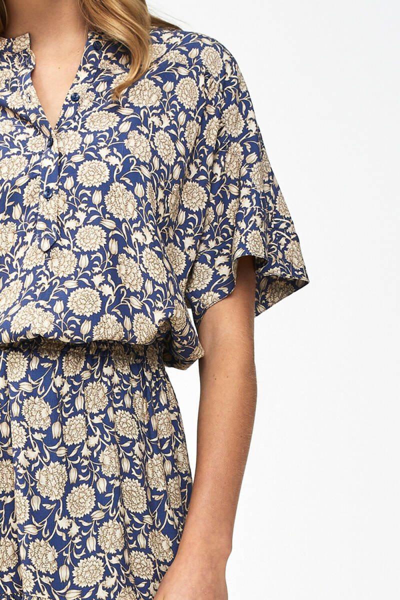 bo bombay blouse - blue