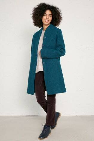 Seasalt Downas Cove Coat, Storm Melange laatste maat: 40