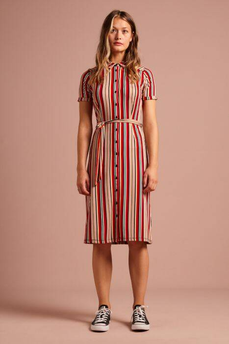 Rosie Slimfit Dress Lido Stripe