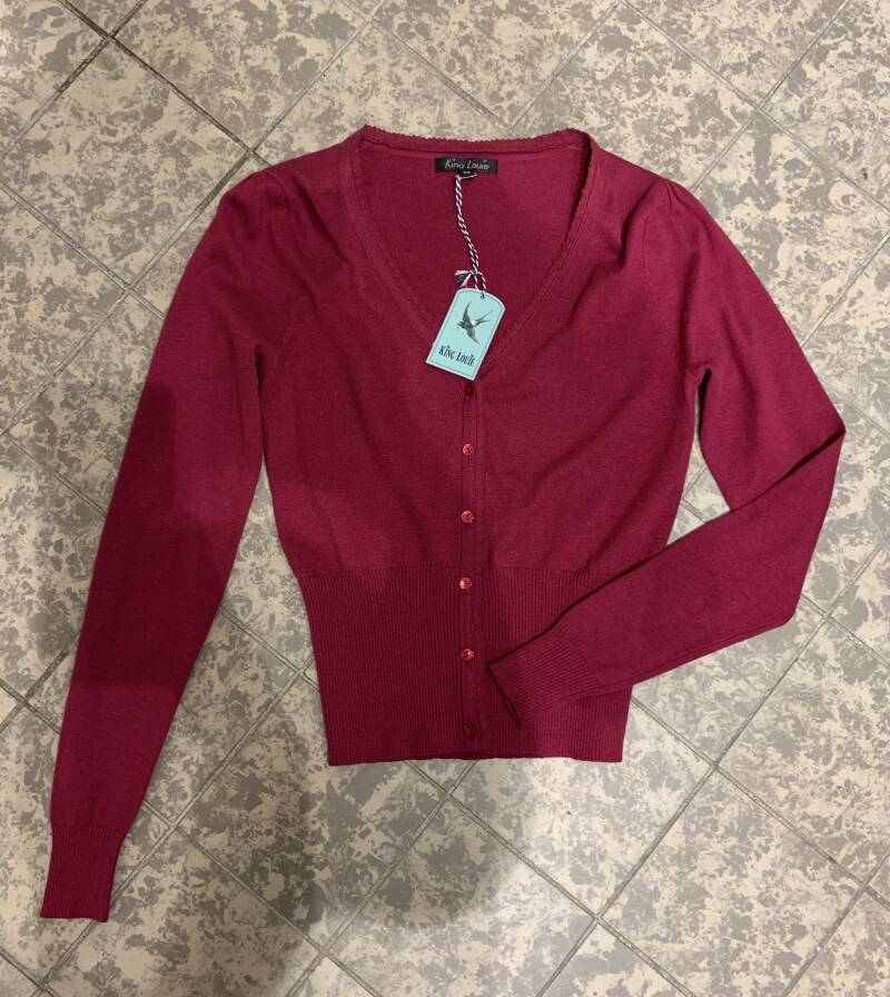 King louie Cardi V cocoon lilac red