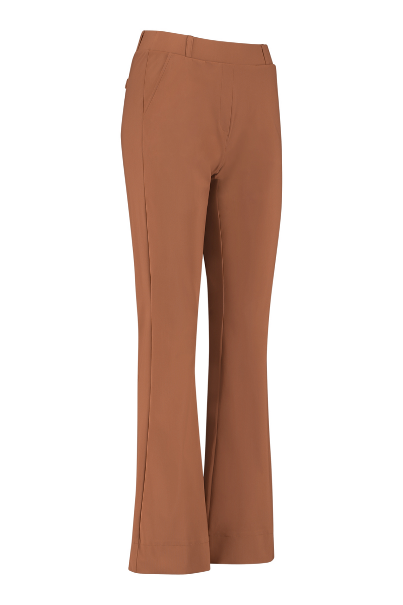Flair bonded trousers cognac