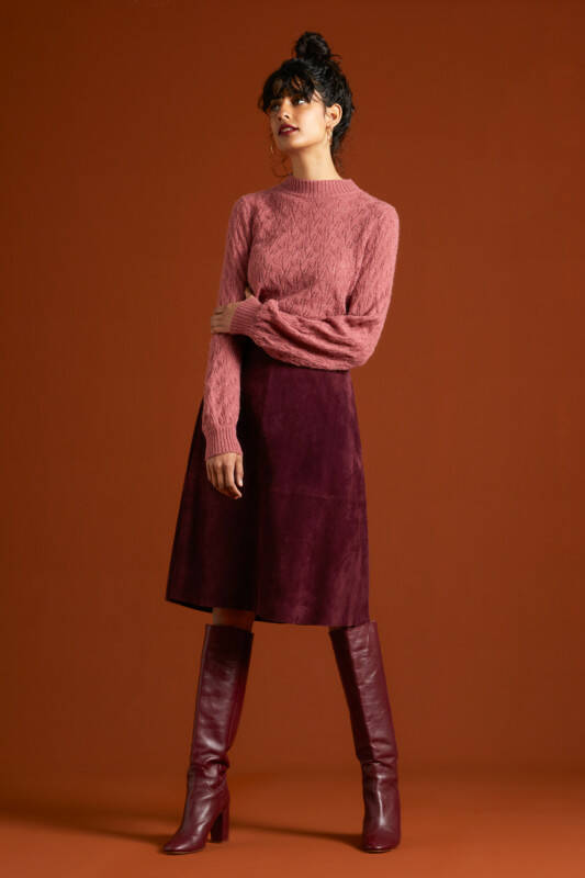 King Louie Juno skirt Suede porto red