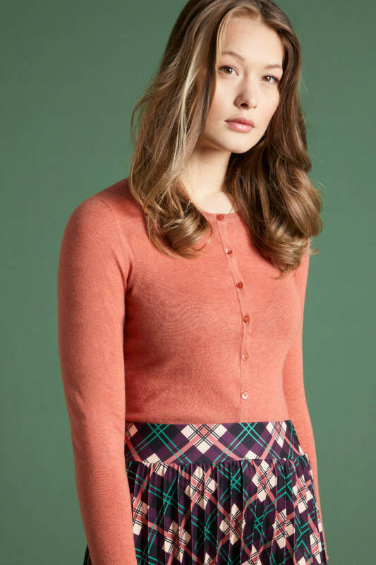 Cardi Roundneck Cocoon Dusty rose