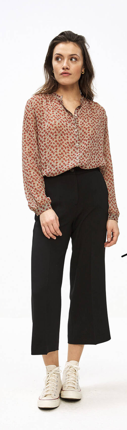 Cato small flower blouse