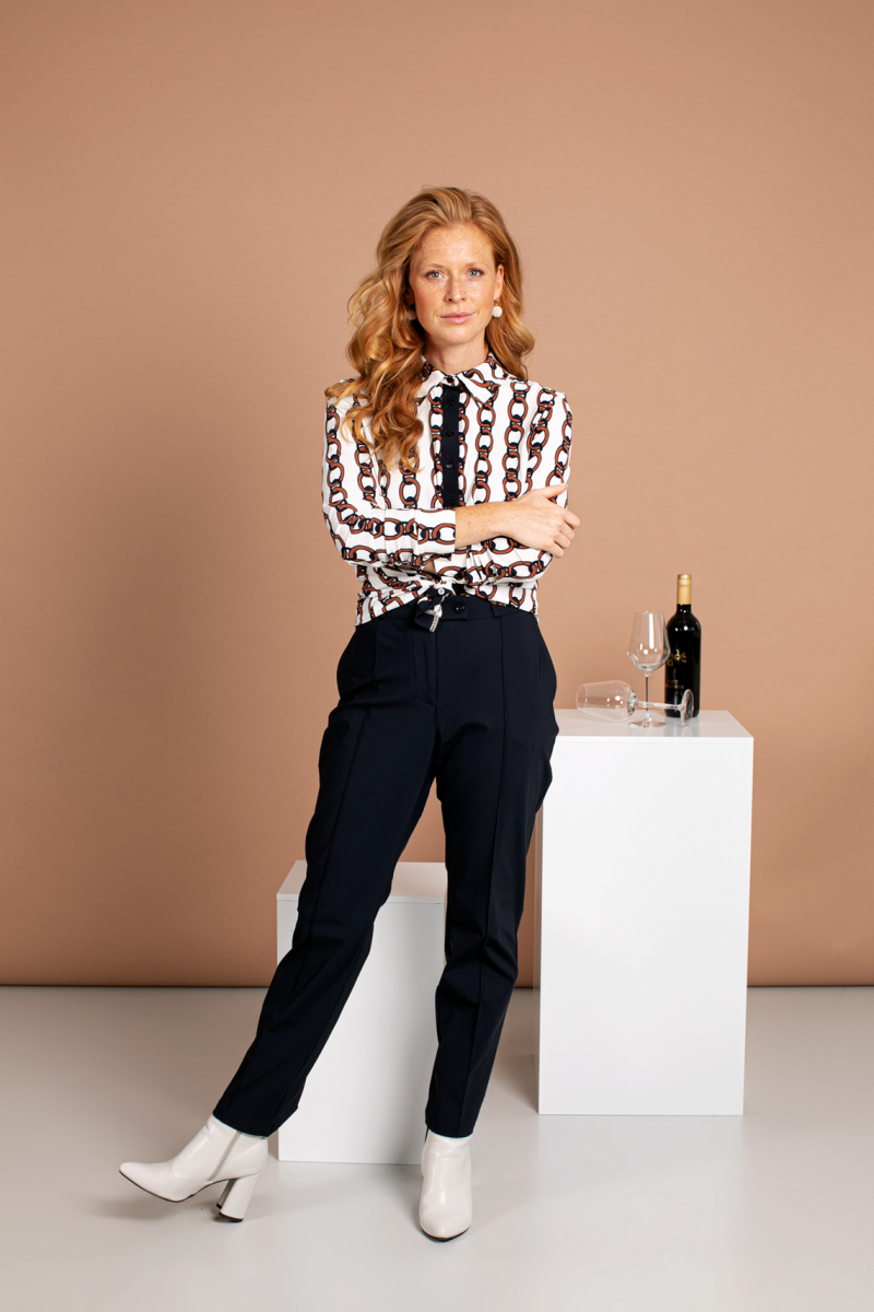 Romy pintuck trousers