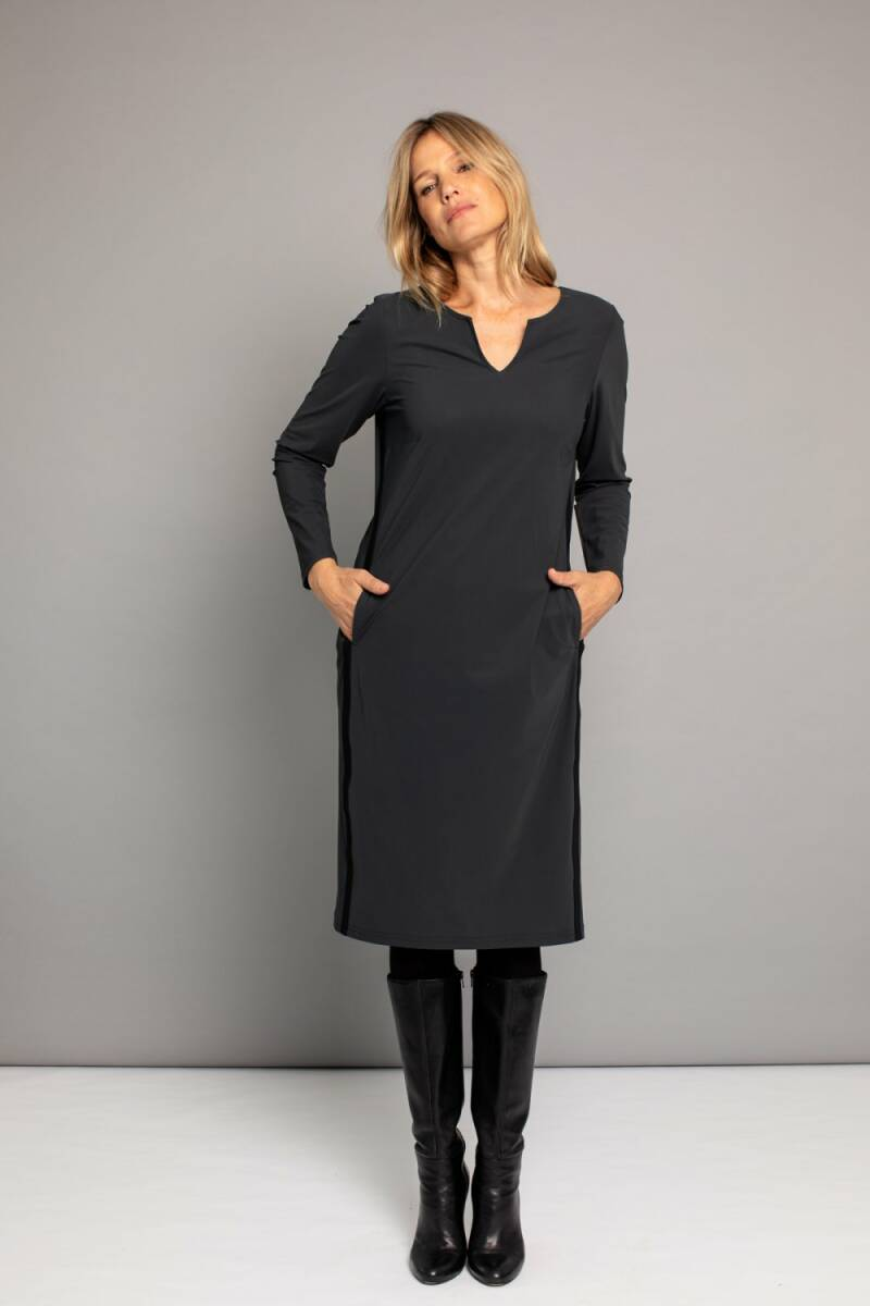 Shape LS dress dark grey