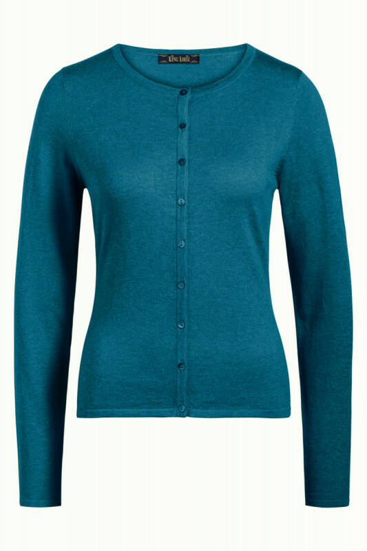 King louie Cardi Roundneck Cocoon Deep sky blue