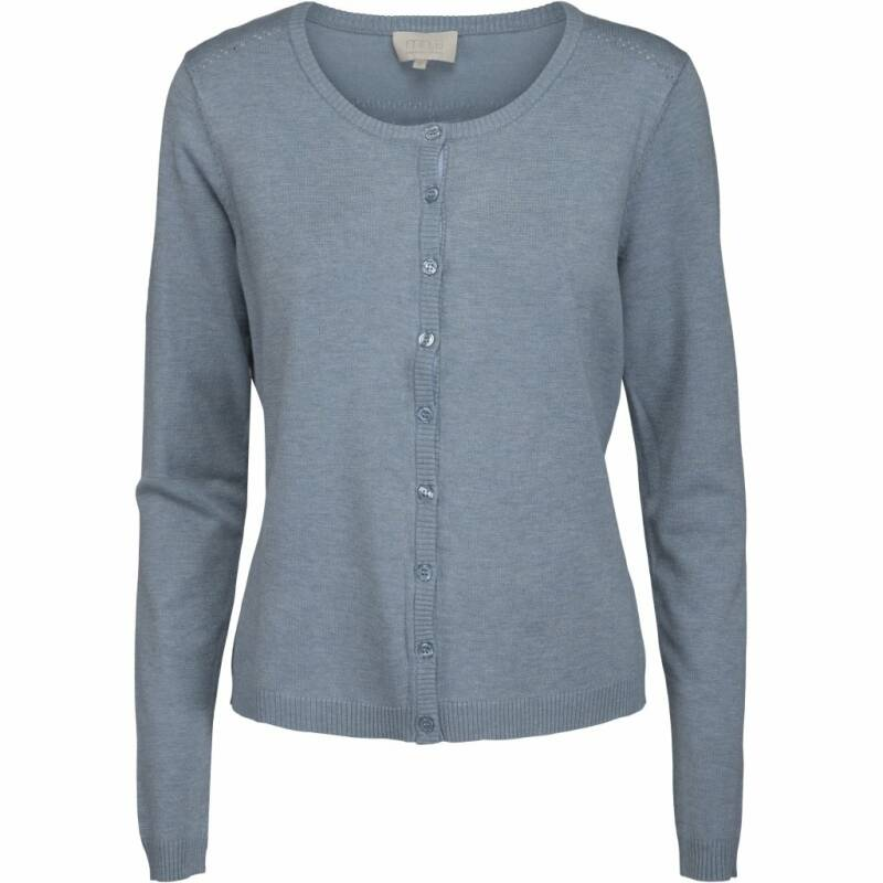 NEW LAURA CARDIGAN - DUSTY BLUE MELANGE