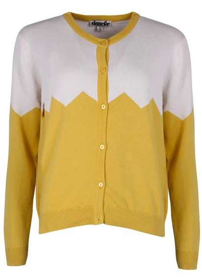 Olsen cardigan - Dusty yellow / chalk
