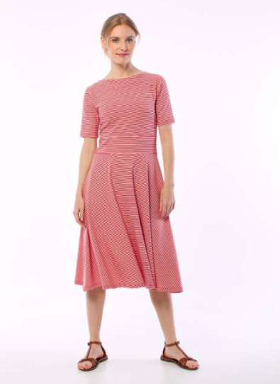 ORGANIC charlotte dress - Red/ chalk