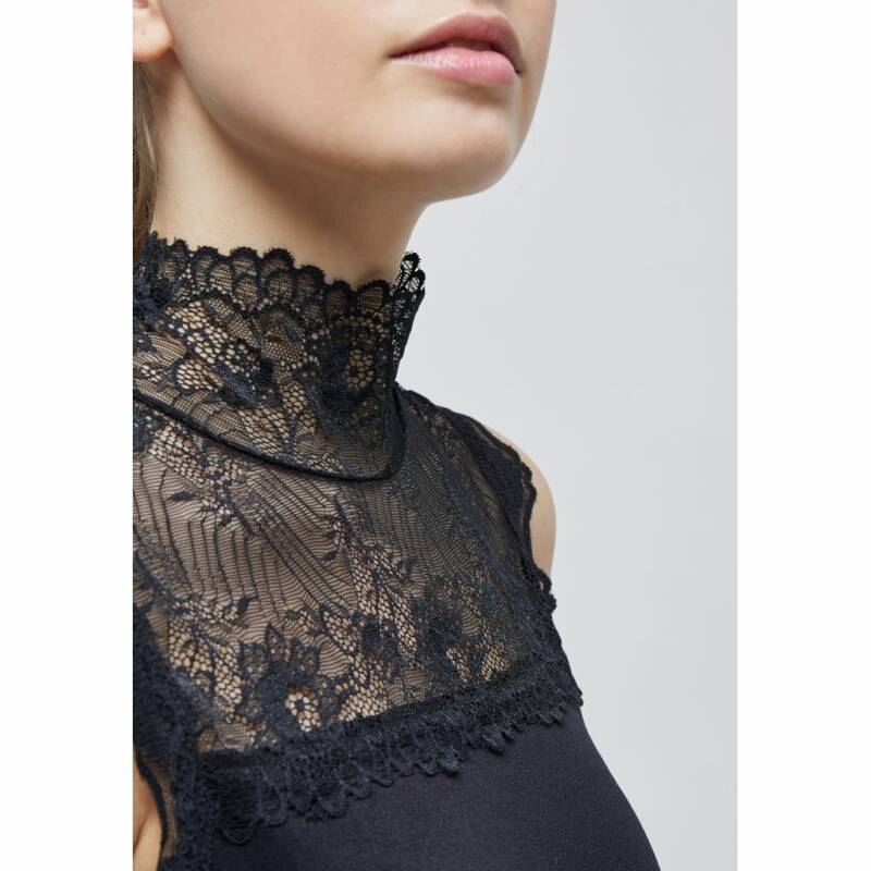 VANESSA HIGH NECK - BLACK
