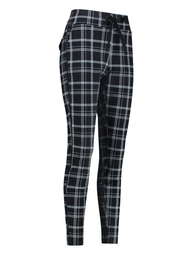 Road check trousers - Black / mid grey