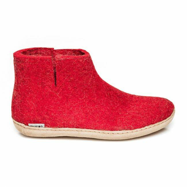 Boot Leather red