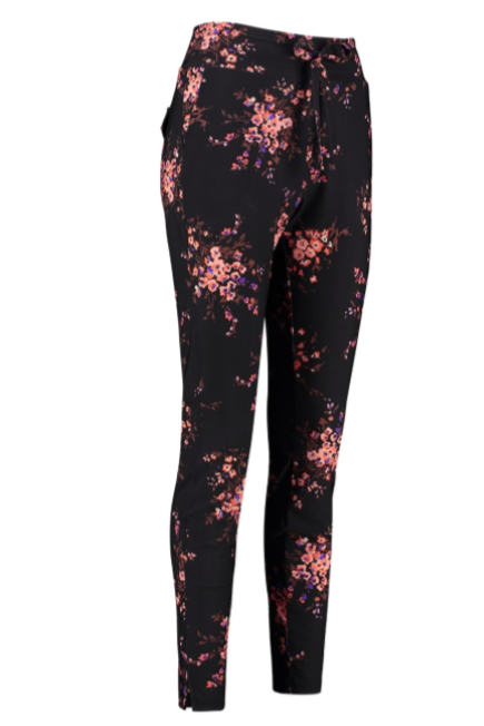 Upstairs flower trousers - Black/ Oyster