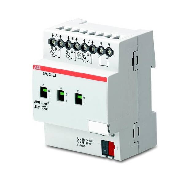KNX energie- actor 3v 16/20A DIN- rail