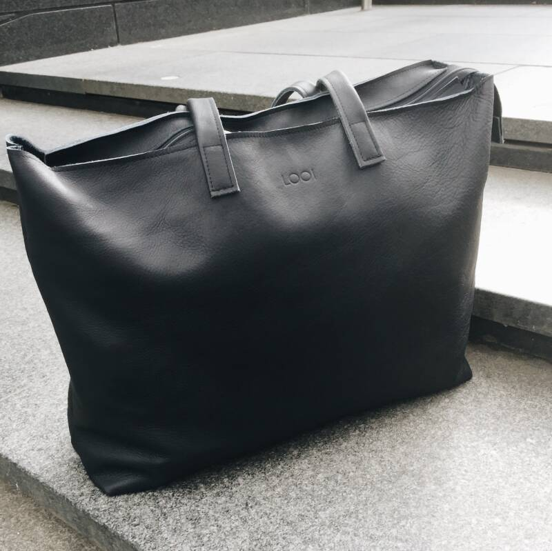 Template leather weekender