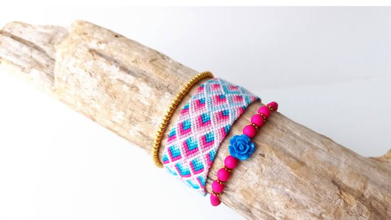 Blue & Pink Triangle