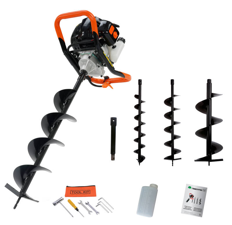 Timberpro EA520 Earth Auger with 3 bits & extension. Euro 2 engine