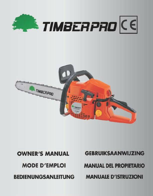 Timberpro CS5800 user manual download, click on link, do not add to cart..