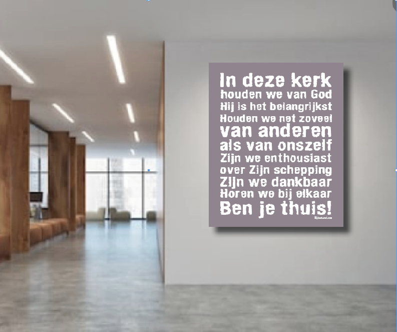 OUTLET: Canvas 'In deze Kerk...' 90/120