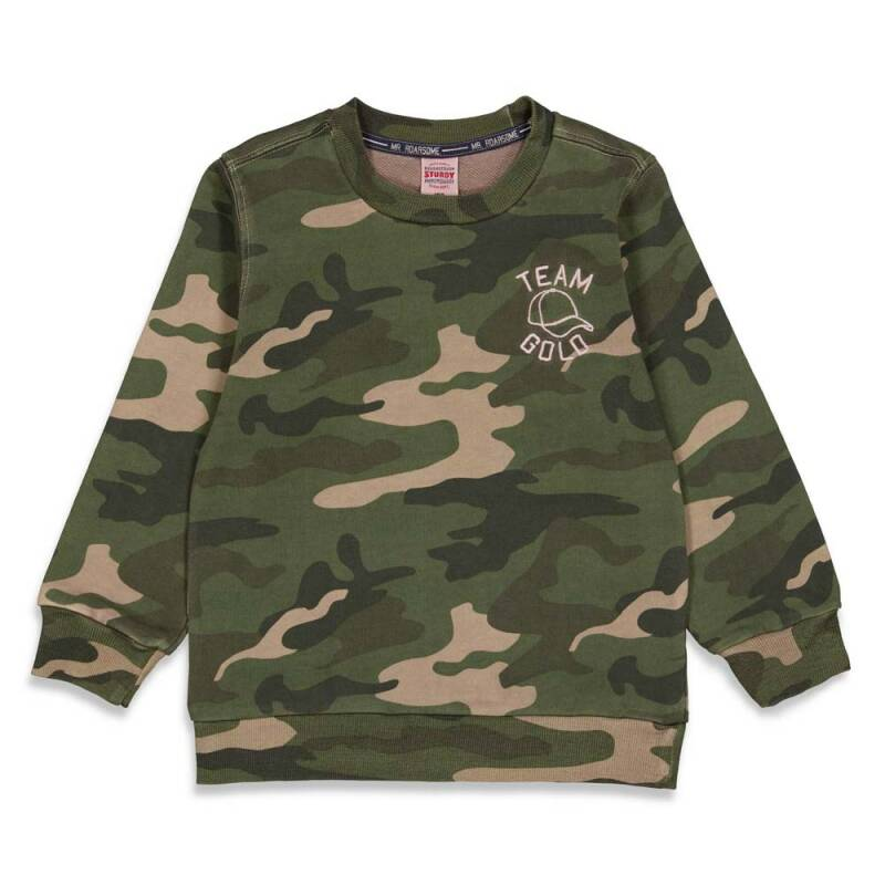 Sturdy sweater armyprint - Press and Play