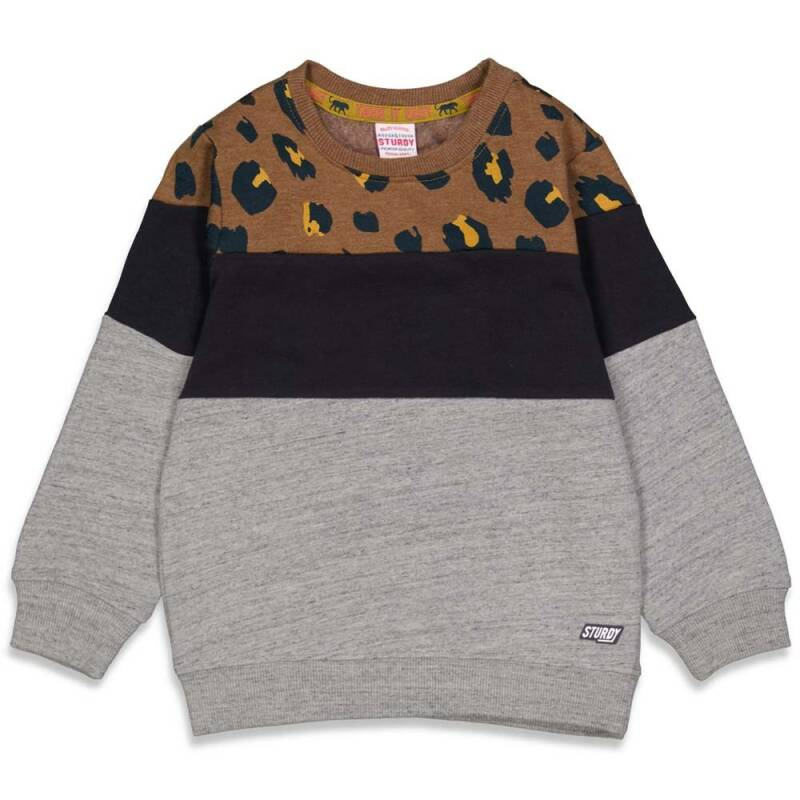 Sturdy sweater bruin panter - On a Roll