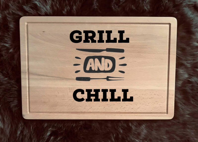 Snijplank : chill and grill