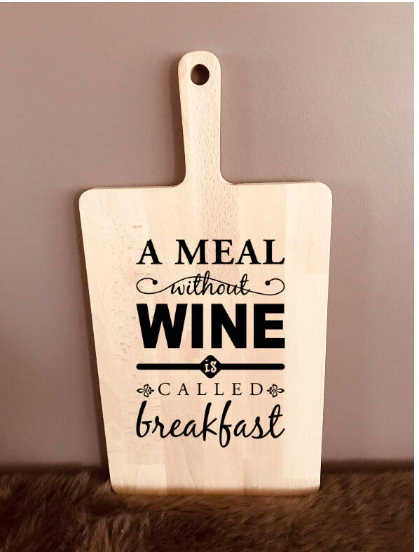 Tapasplank : a meal without wine is called breakfast