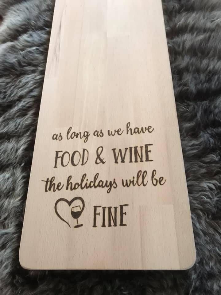 Tapasplank : as long as we have food and wine the holidays will be fine
