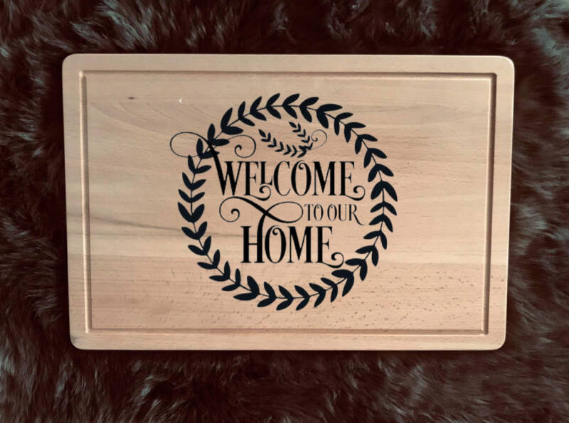 Snijplank : welcome to our home