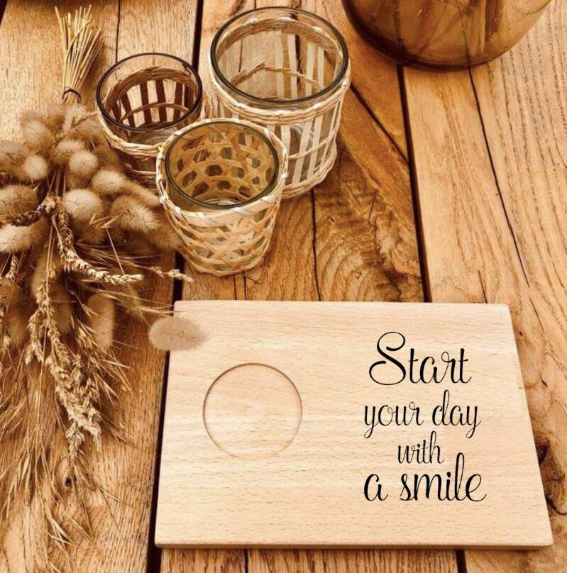 Ontbijtplankje : start your day with a smile