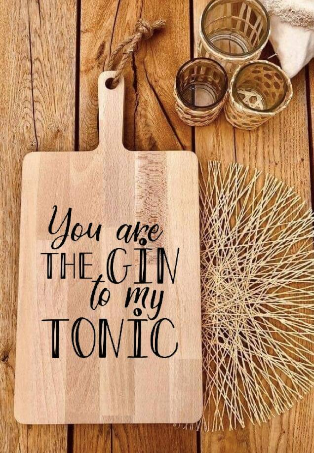 Tapasplank : you are the gin to my tonic